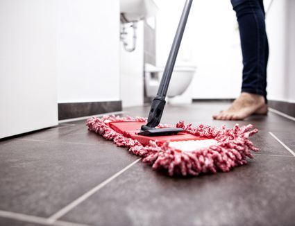 how to clean stains off rubber flooring