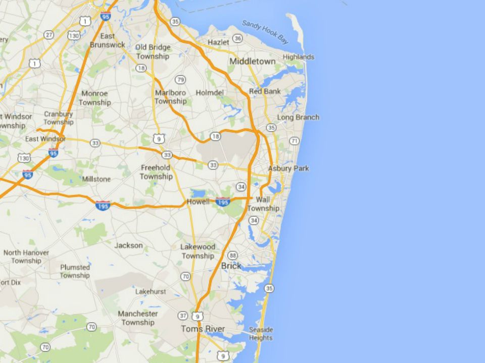Maps Of The New Jersey Shore - Maps of nj