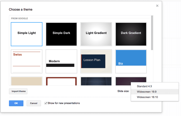 dark google slides theme