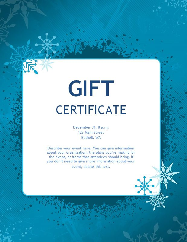 173 free gift certificate templates you can customize a blue christmas gift certificate template yadclub Choice Image