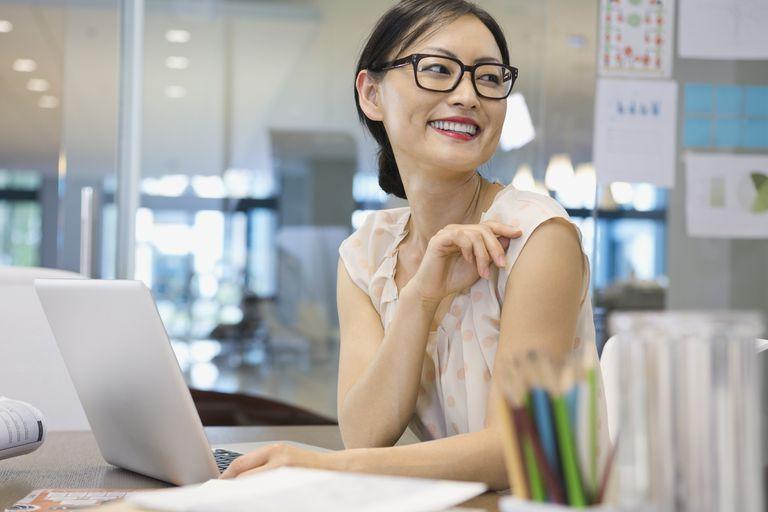 Businesswoman at desk