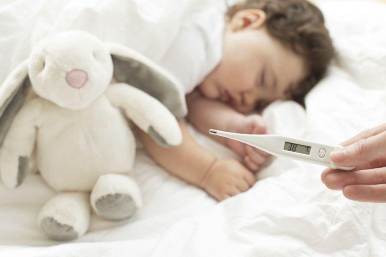 sick baby sleeping