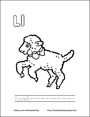 Letter L 5 Print The Pdf Lamb Coloring Page And Color Picture Use Your Back Button To Return This Choose Next Printable Sheet