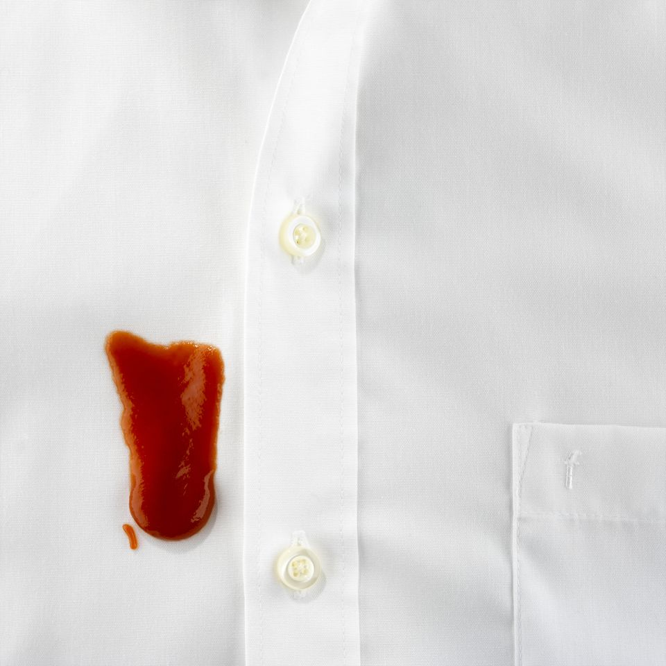 Ketchup stain
