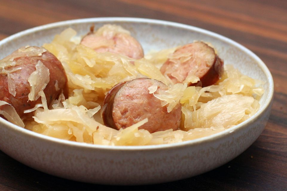 Sauerkraut and Smoked Sausage