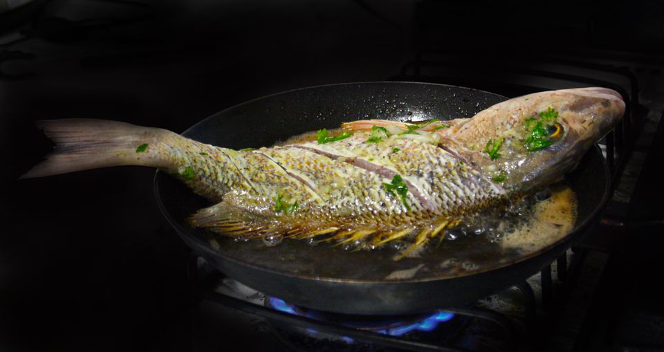 Korean pan fried whole fish yellow croaker recipe for Croaker fish recipe
