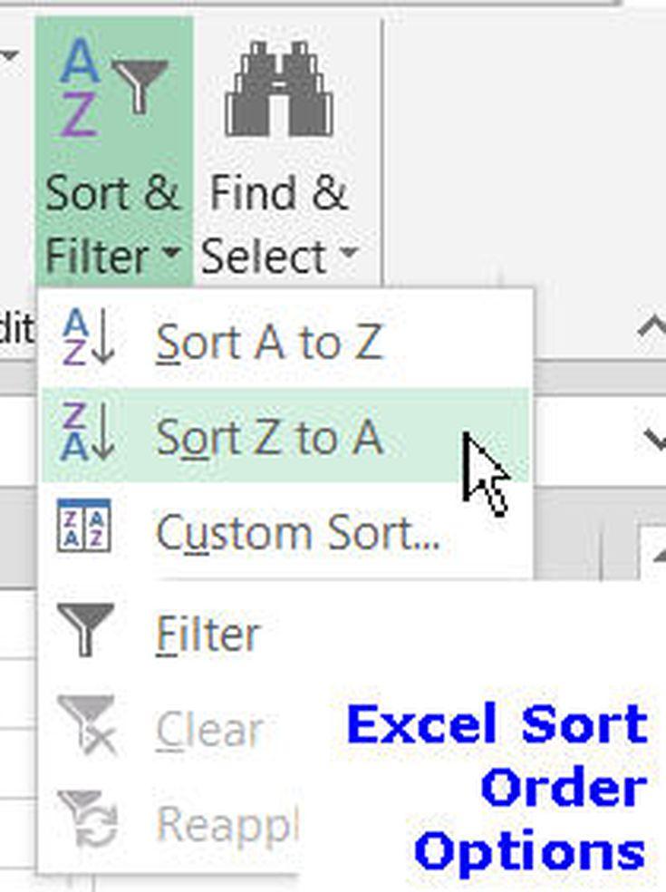 Excel most recent order