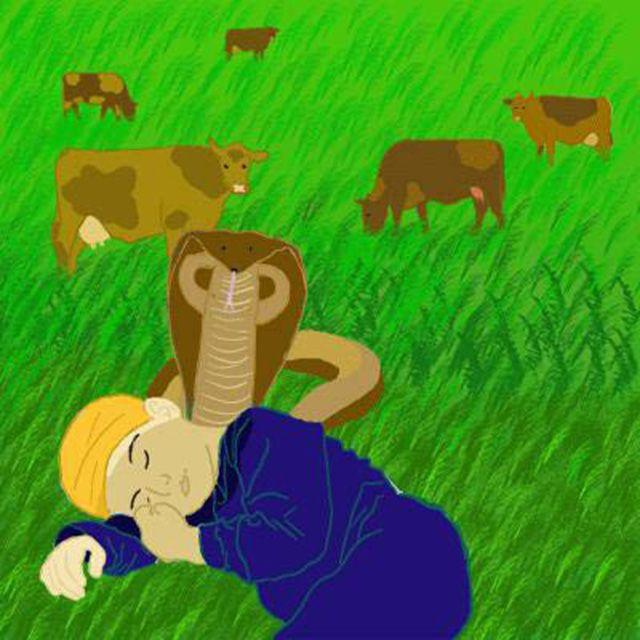 The Cobra Hovering Over Guru Nanak Dev
