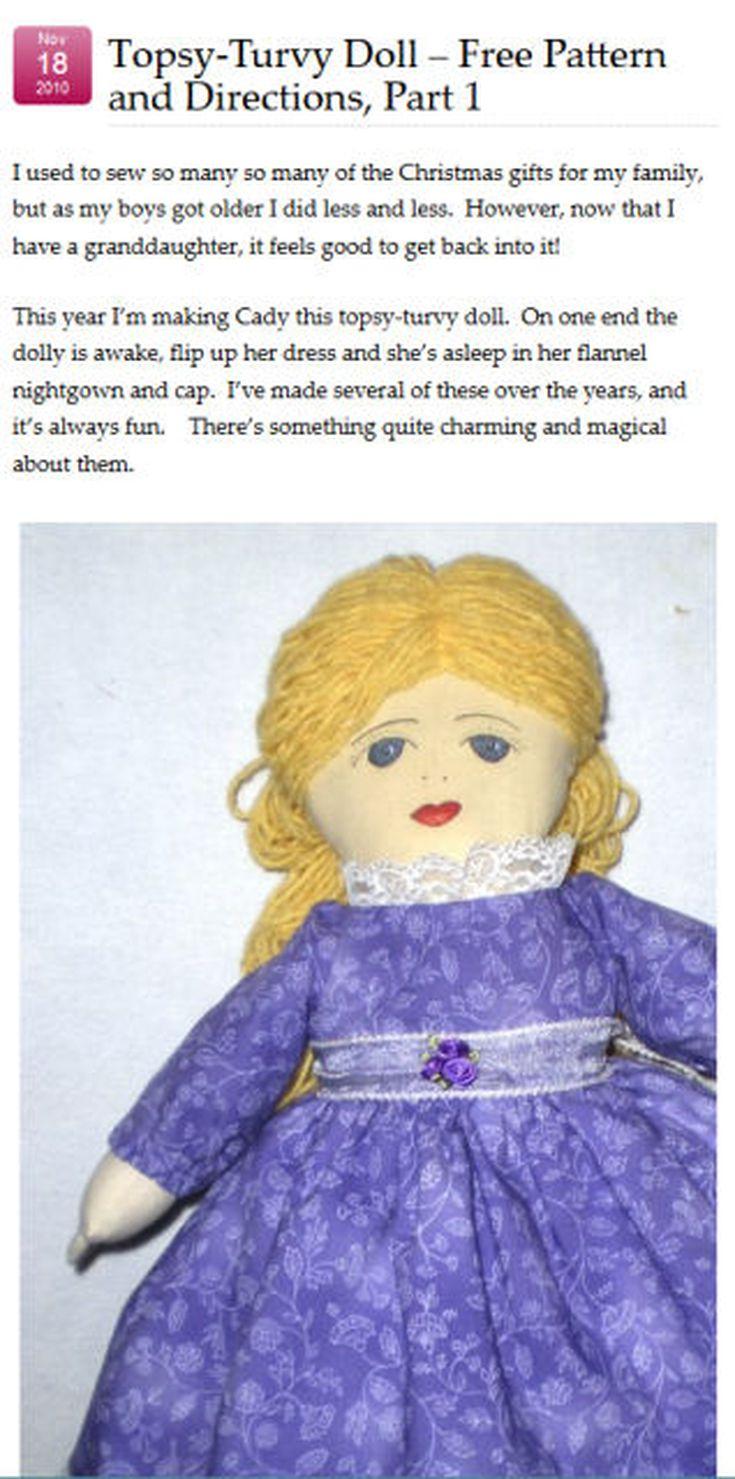 topsy turvy doll patterns and kits