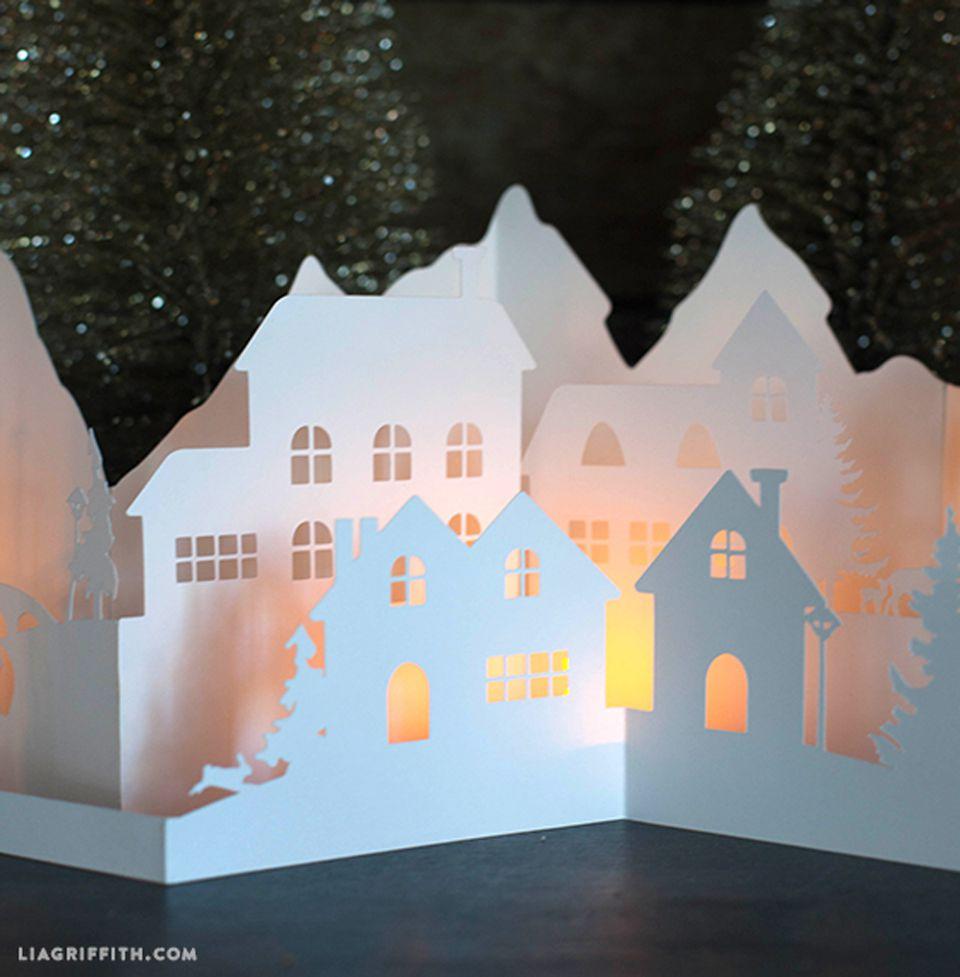 paper cut winter village