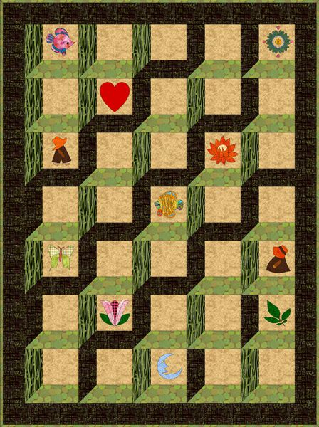 Browse my collection of free quilt patterns for Window quilts