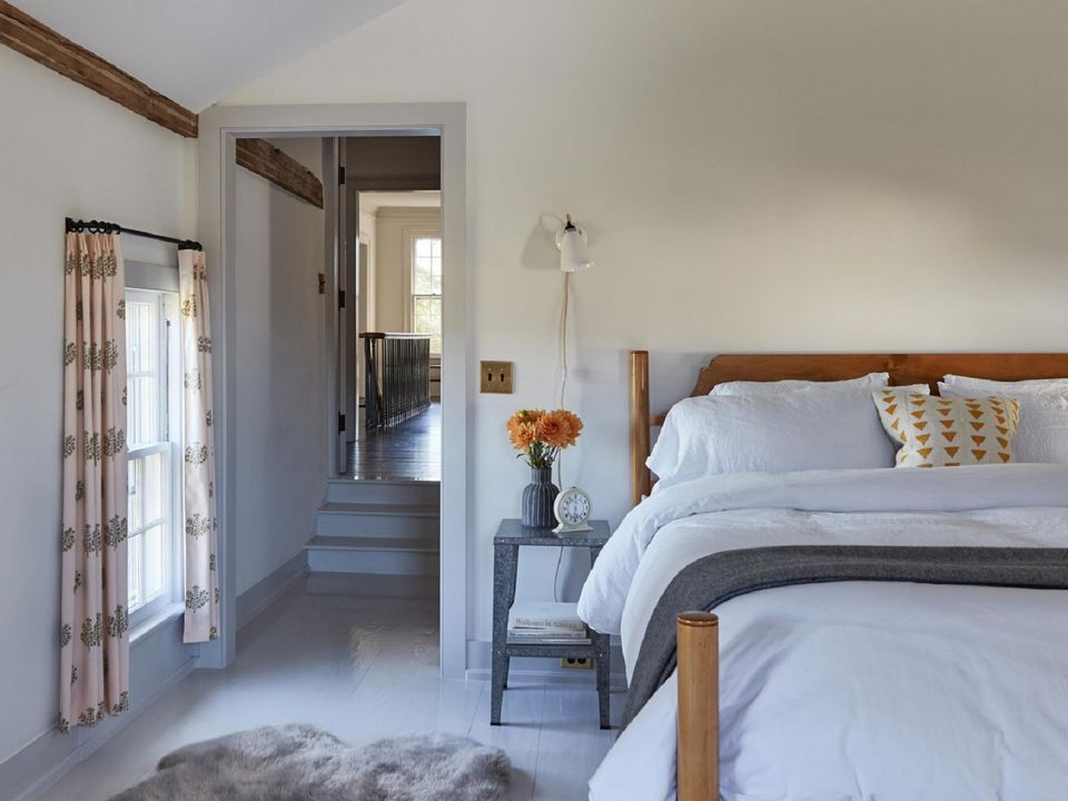 Modern farmhouse guest bedroom