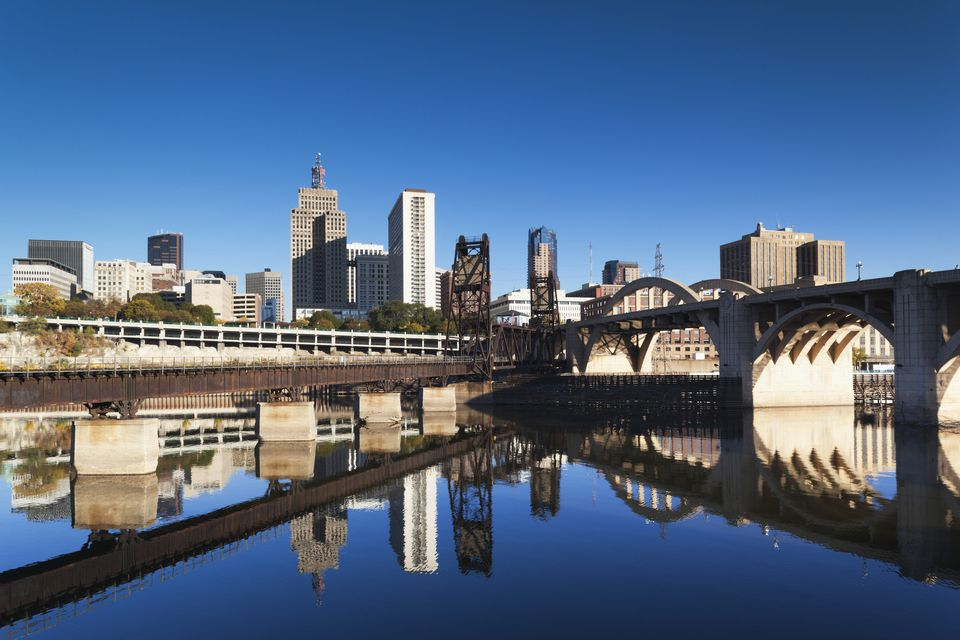 The Minneapolis skyline.
