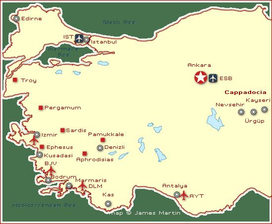 turkey cities map