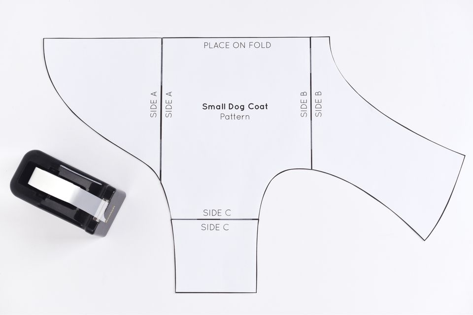 Free sewing pattern for a warm weatherproof dog coat for Dog coat template