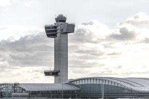 Air traffic control tower at JFK Airport