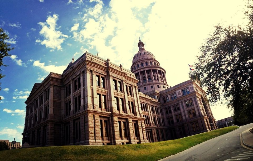 Low Angle View Of Texas State Capitol Building Against Sky
