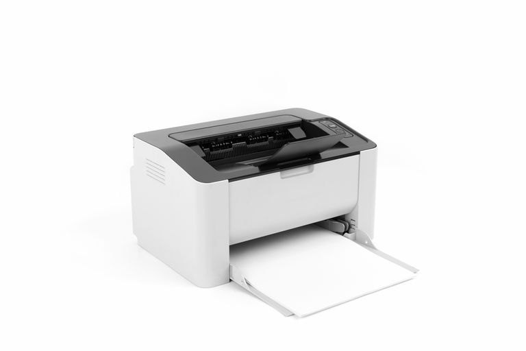 Add to Board settings Laser printer isolated on white background