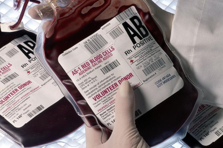 Human blood for transfusion in Boston