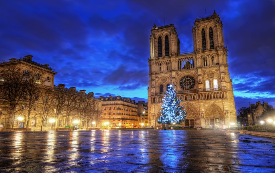 Notre Dame at Christmas time.
