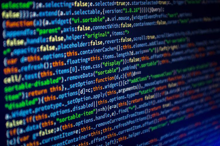 JavaScript code on a screen.