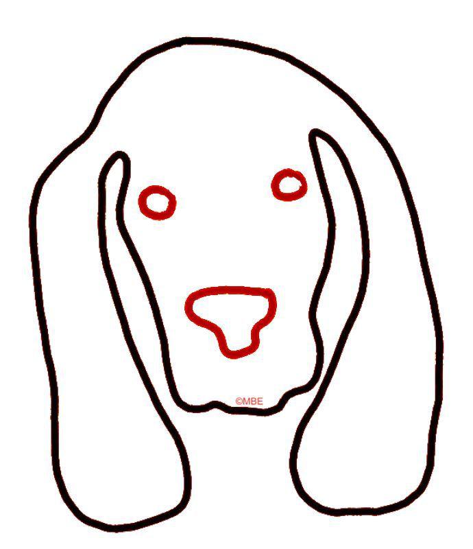 Free Dog Stencils Collection: Dog 1