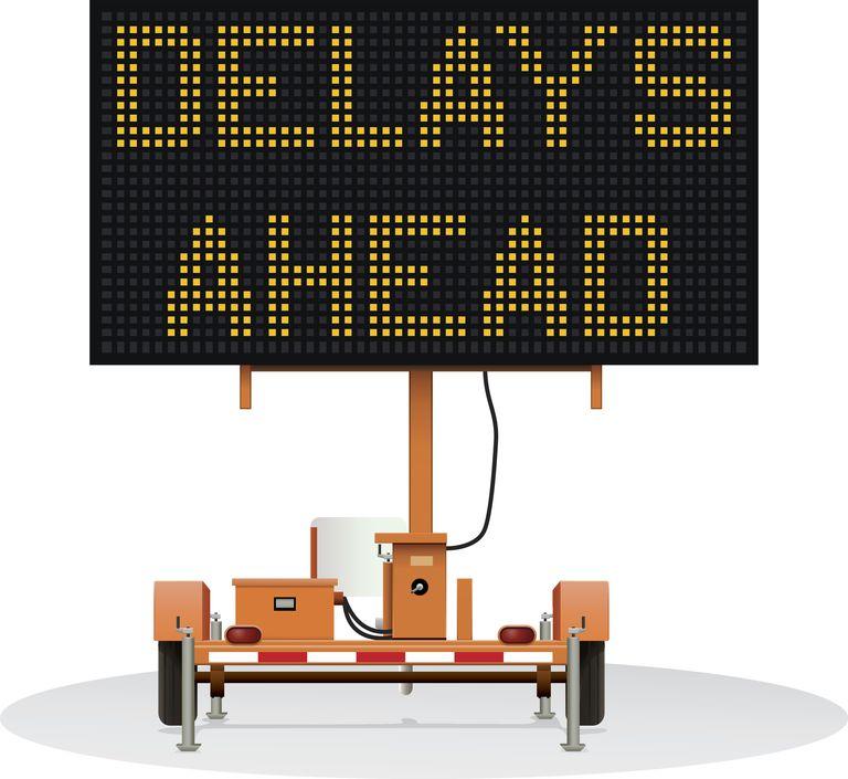 Delays Ahead Digital Traffic Sign