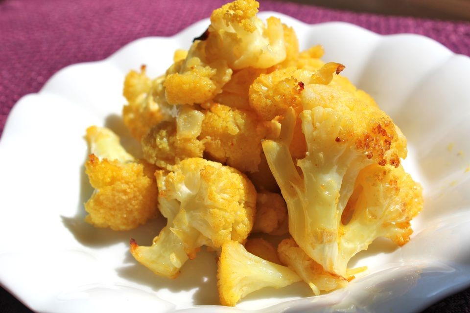 Golden Spiced Cauliflower