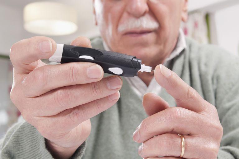 Man Checking Glucose