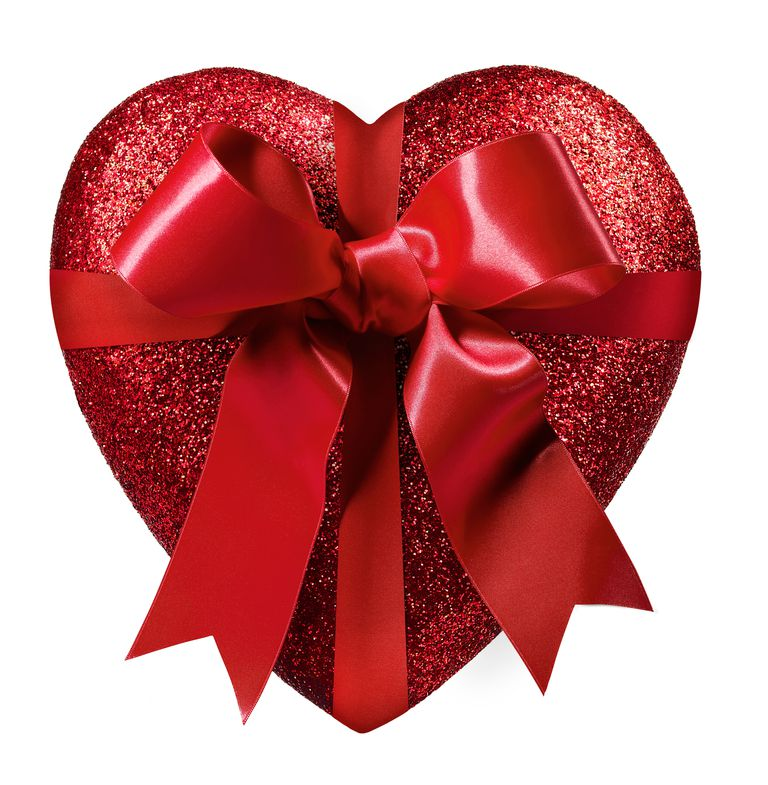 image of a heart tied with a bow illustrating aboutcoms valentines sweepstakes list