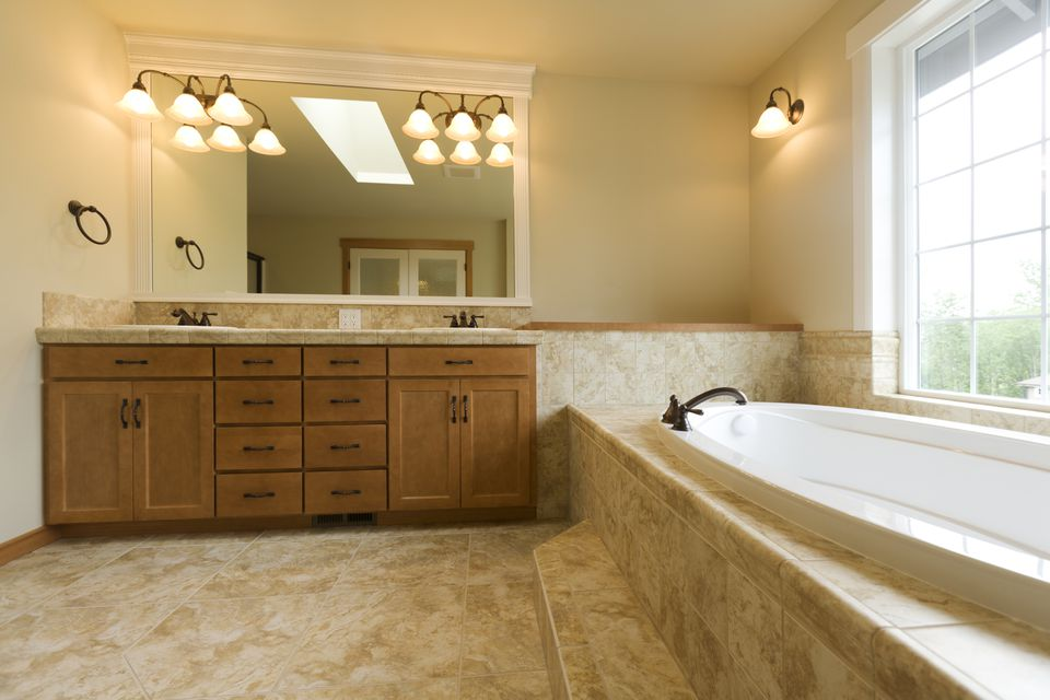 How to replace and install a bathroom vanity and sink for Replace bathroom countertop