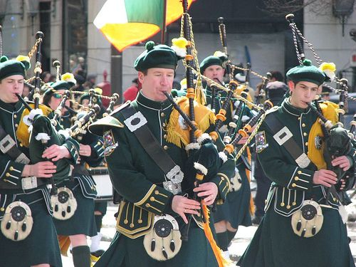 Bagpipers at Saint Patrick's Day Parade in New York City