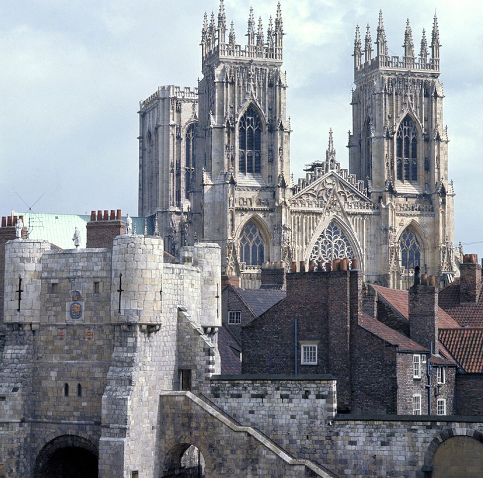 York Minster, West Front, and York's Medieval City Walls
