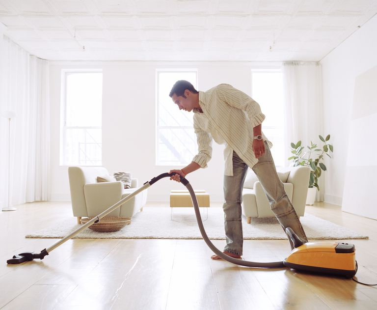 Vacuuming with good body mechanics is a safe bet for your back.