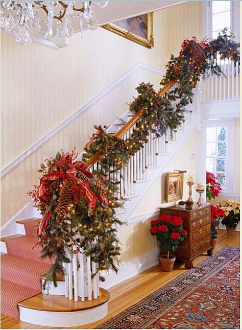 7 Ways To Decorate Your Stairway for the Holidays