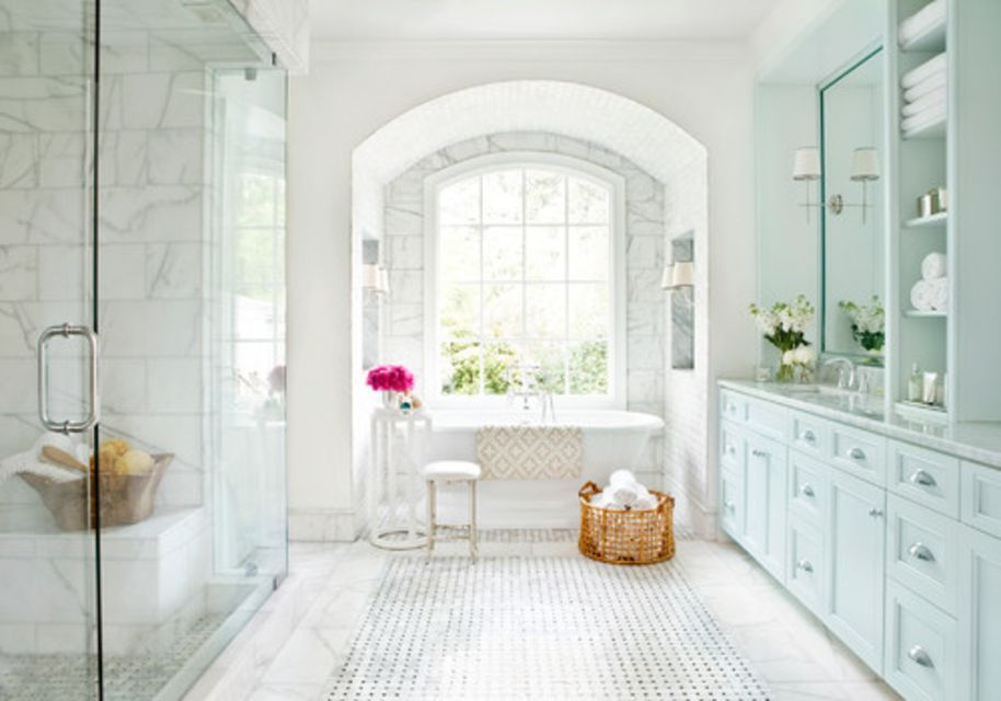 beautiful marble bathroom. Mark Williams Design Associates