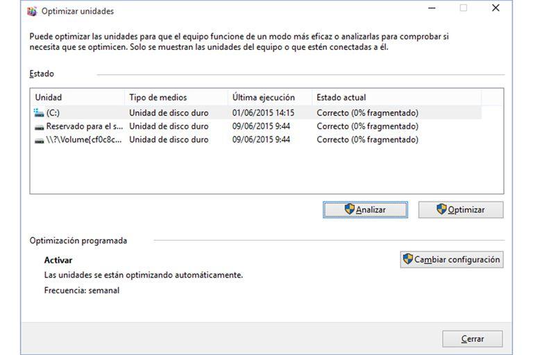 Desfragmentar Disco Windows10