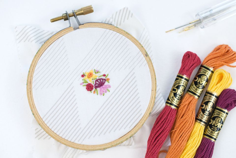 Stitching Tiny Embroidered Flowers