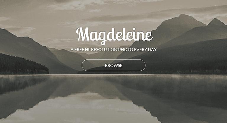 Screenshot of the Magdeleine website