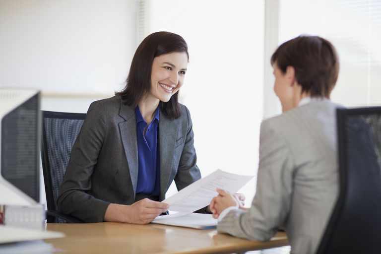 A women conducts a job interview