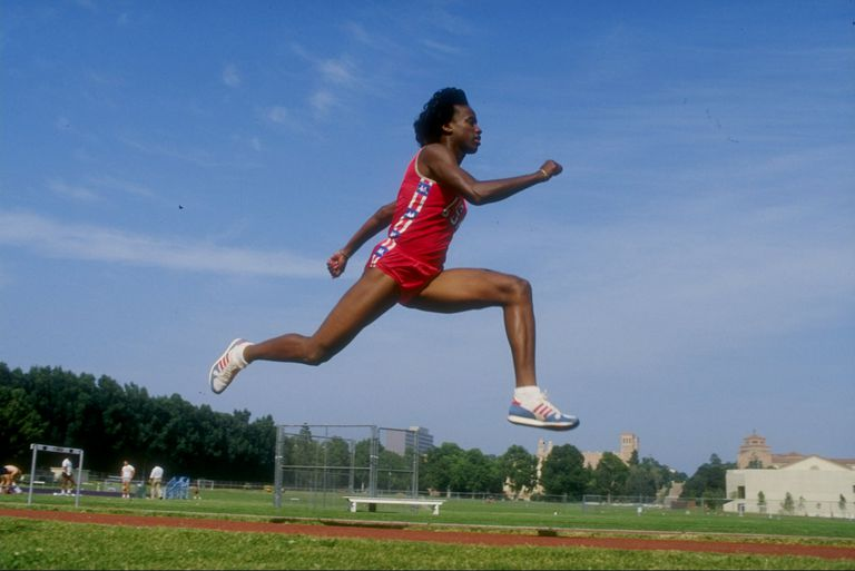 Jackie Joyner-Kersee in a long jump