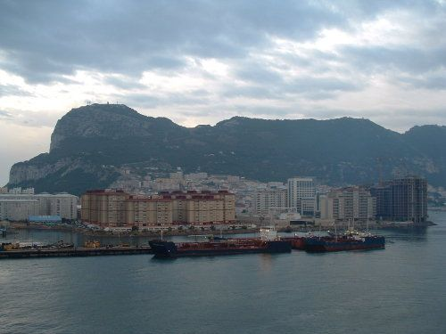 Sailing into Gibraltar from the East