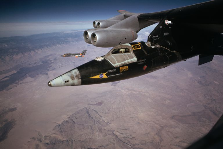 B-52 Carrying Rocket Plane