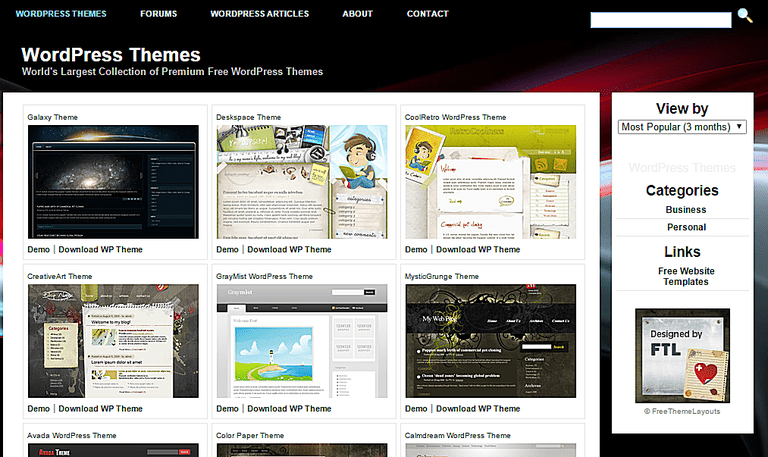 website free themes