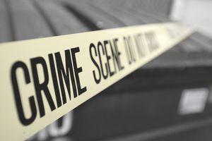 Dumpster and Crime scene tape