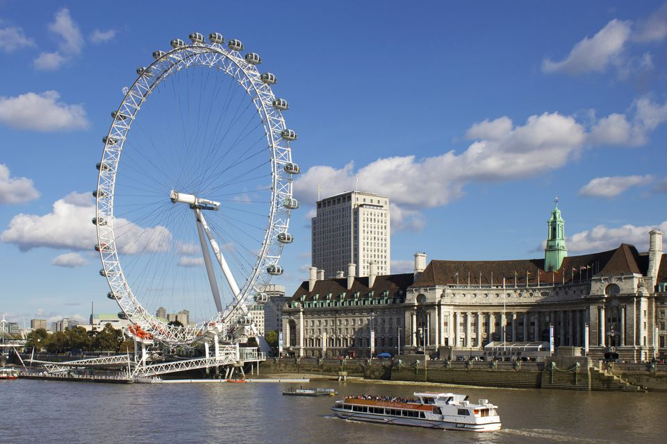 London Eye, River Thames, London, England, United Kingdom, Europe