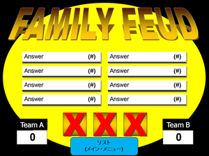 6 free family feud powerpoint templates for teachers one round family feud powerpoint template toneelgroepblik Images