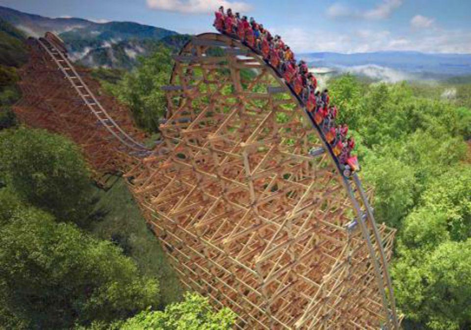 Lightning Rod Wooden Roller Coaster