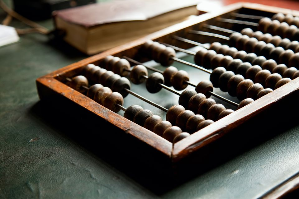 abacus on the table
