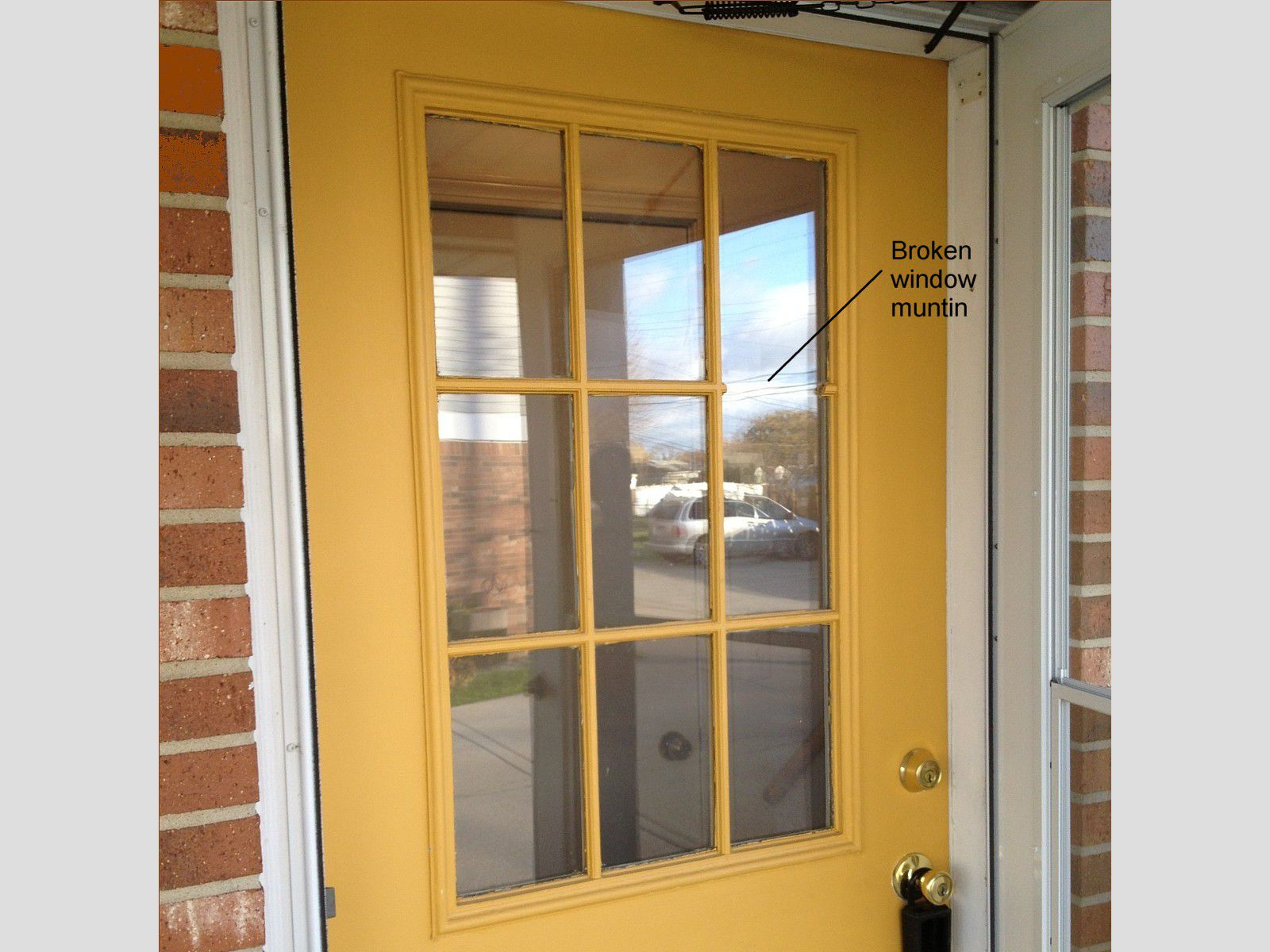 How to replace a glass frame in an exterior door for Exterior doors and windows